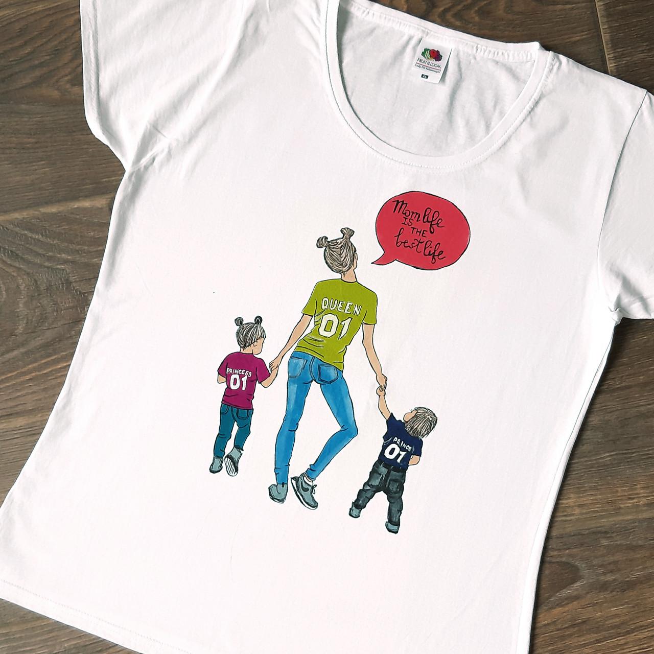 6d6663fcc3a6 Стильная футболка с ручной росписью