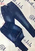 Лосины для девочки трикотажные под джинс размеры 4-16 лет