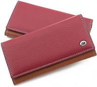 Красный кошелек матовый кожаный ST высокого качества. От поставщика SB634 Red