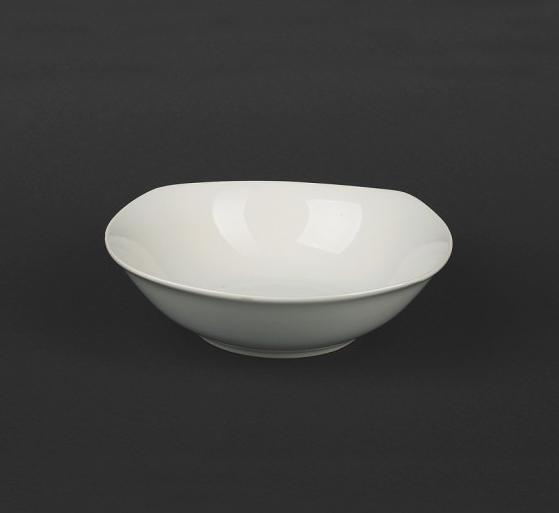 Салатник белый квадратный 300 мл (фарфор) 4446