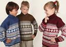 Дитячі в'язані светри,туніки,кардигани