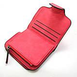 Червоний гаманець маленький жіночий на кнопці, фото 6