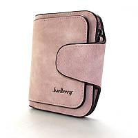 Розовый маленький кошелек bae-847 pin женский на кнопке, фото 1