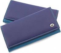 Синий кошелек матовый кожаный ST высокого качества. От поставщика SB634 Blue