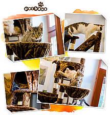 """Когтеточка """"Игровая площадка"""" коричневая Pethaus, 50x50x130 см, фото 3"""