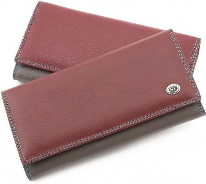 Бордовый кошелек матовый кожаный ST высокого качества. От поставщика SB634 juju red