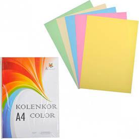 Бумага для ксерокса А4 5 цветов, пастель 250 листов 80 г/м²                          П5/250