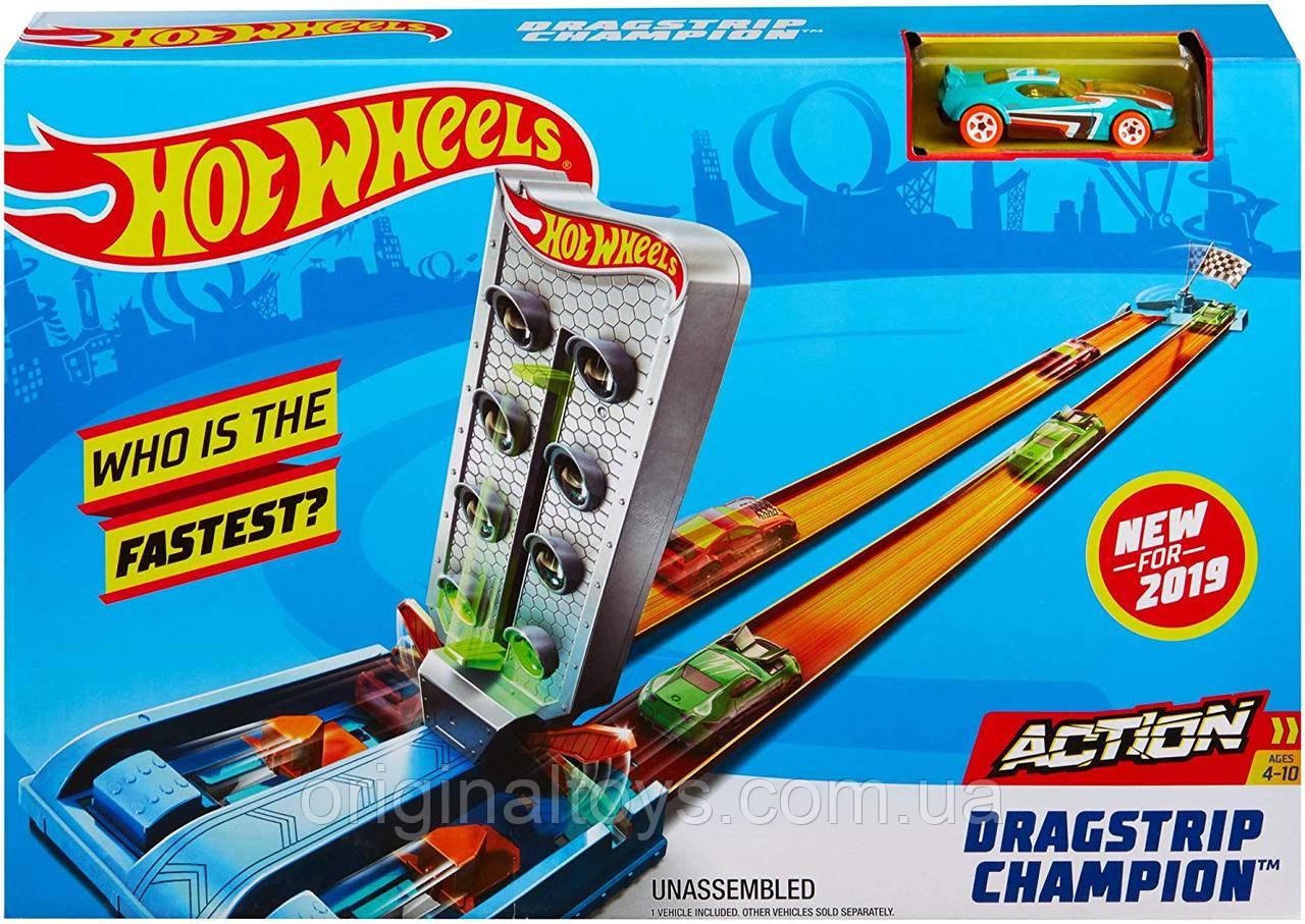 Трек Hot Wheels Змагання з дрег-рейсингу , GBF82