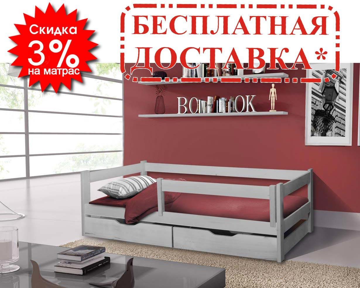 👪Деревянная кровать Венди 80х190 см ТМ Mr.Mebl
