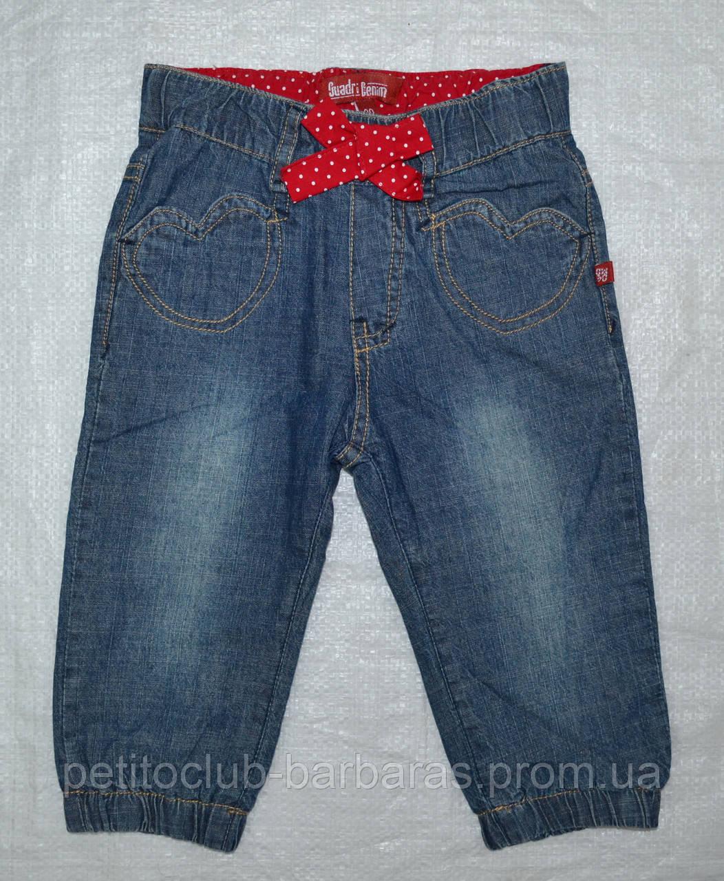 Джинсы на хлопковой подкладке для девочки (Quadrifoglio, Польша)