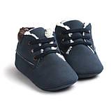 Утепленные пинетки-ботинки для мальчика 12 см., фото 4