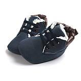 Утепленные пинетки-ботинки для мальчика 12 см., фото 2
