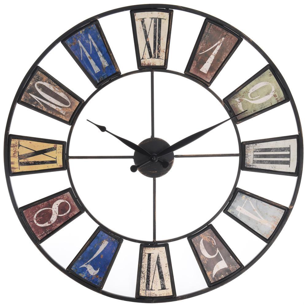 Часы настенные металлические в стиле лофт - Rome Сolor 60