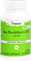 Облепиховое масло, Vitacost, Sea Buckthorn Oil - Omega, 7450 мг, 30 капсул