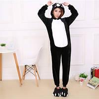 Черная свинка пижама Кигуруми — костюм-комбинезон