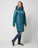 15d1552e2ad Женское демисезонное комбинированное пальто М-1309-18