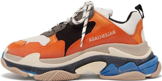 "Женские кроссовки Balenciaga Triple S ""Orange"" в стиле Баленсиага"