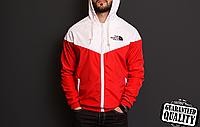 Мужская ветровка The North Face | куртка Виндранер | Чоловіча вітрівка Норз Фейс Віндранер (Красно-Белый), фото 1