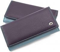 Фиолетовый кошелек матовый кожаный ST высокого качества. От поставщика SB634 Violet