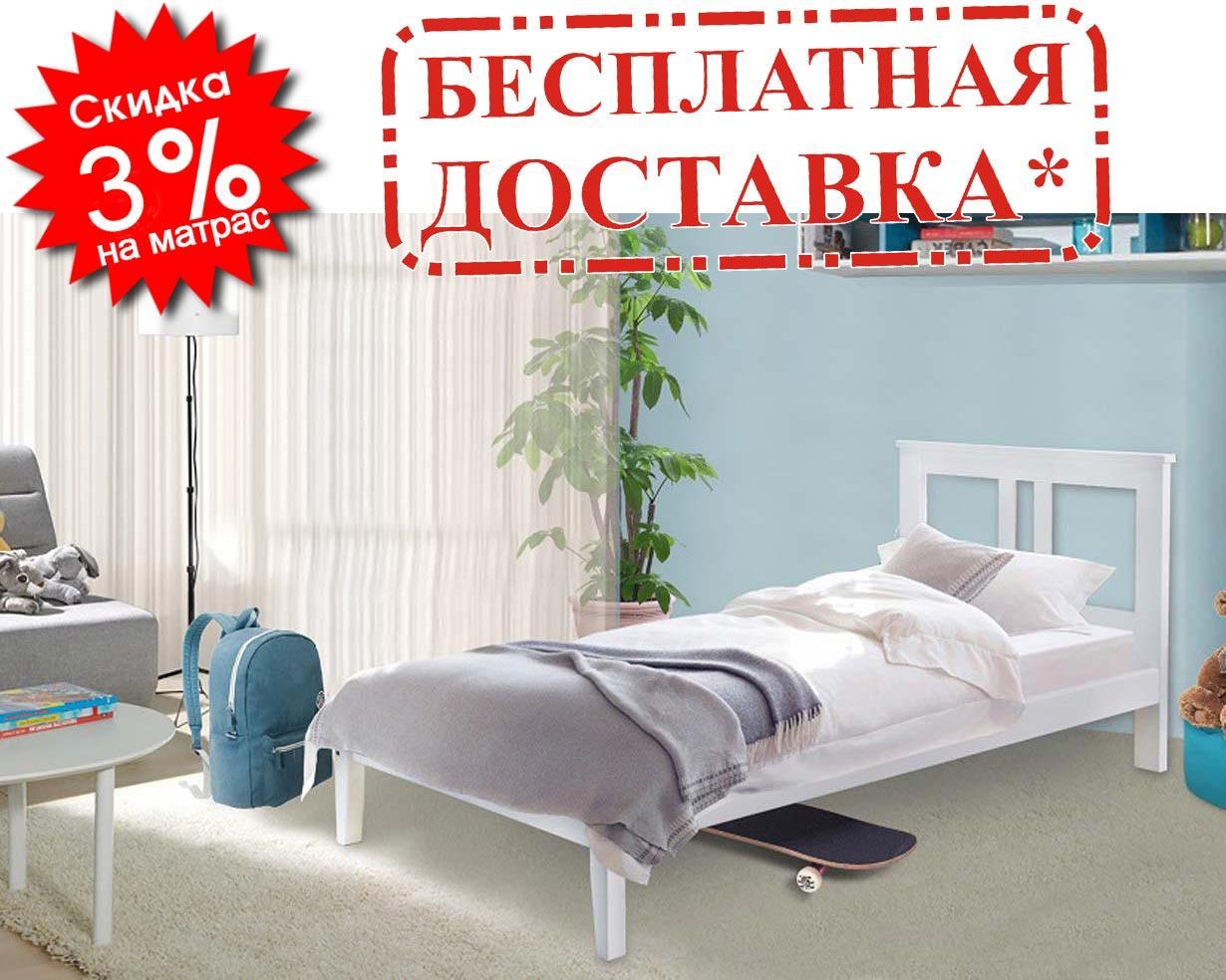 👪Деревянная кровать Бесси 80х190 см ТМ Mr.Mebl