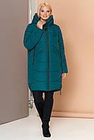 Женский зимний пуховик оверсайз VS 185, изумрудный, размер 58, фото 1