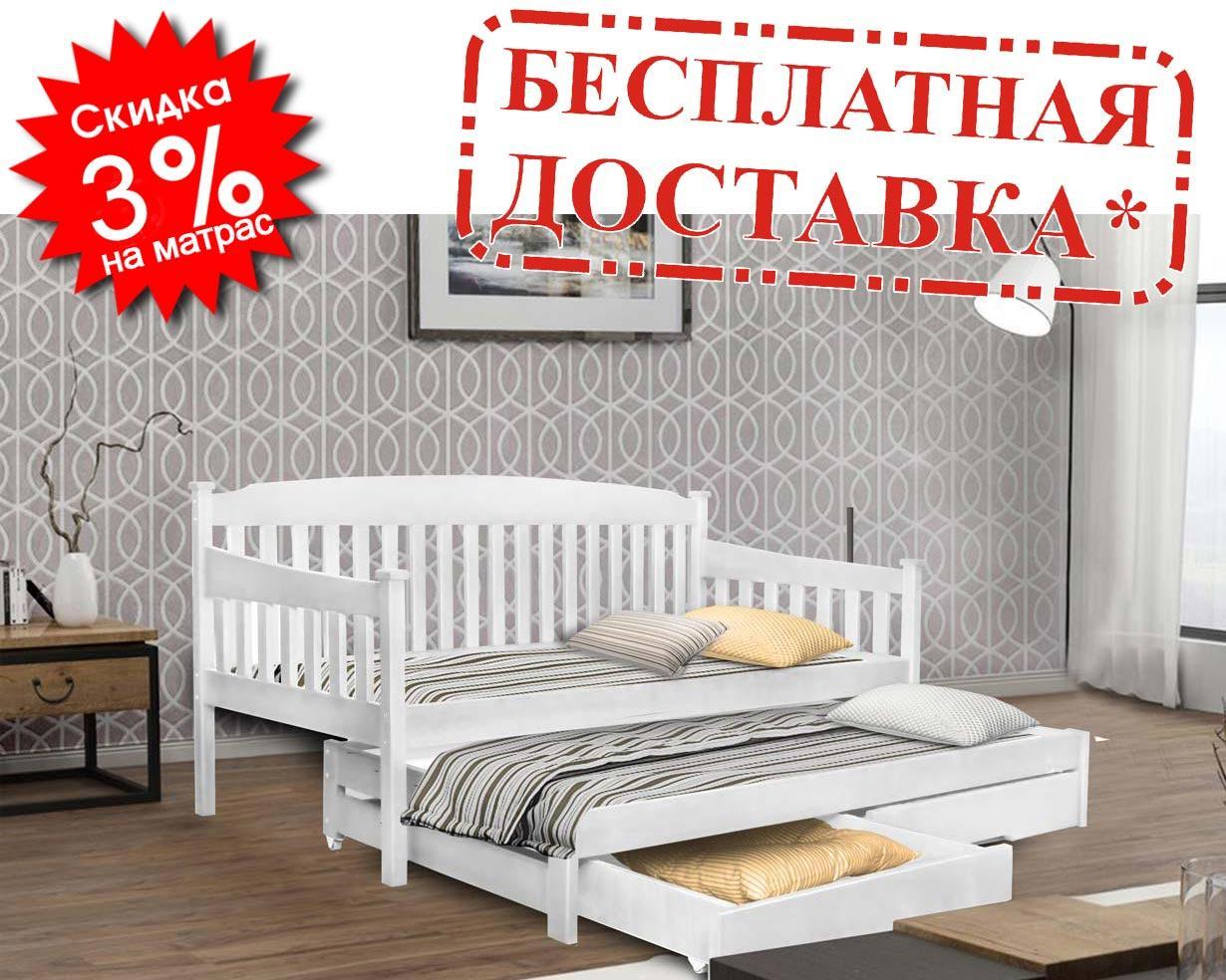 👪Деревянная кровать Юнис 80х190 см ТМ Mr.Mebl
