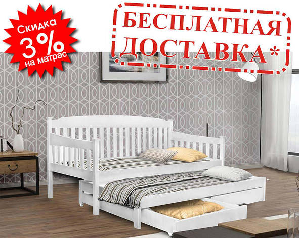 👪Деревянная кровать Юнис 80х190 см ТМ Mr.Mebl, фото 2