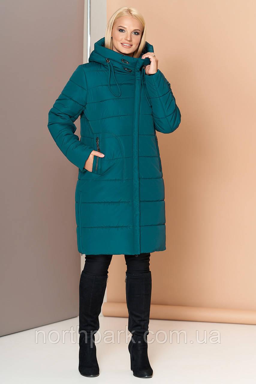 Довга зимова куртка VS 188, смарагд