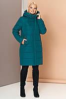 Довга зимова куртка VS 188, смарагд, фото 1