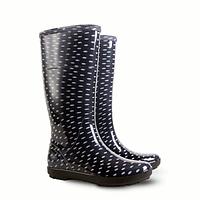 Гумові чоботи (резиновые сапоги) Demar HAWAI LADY Чорний в горох р.37