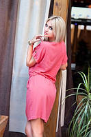 Легкое платье со шнурком затяжкой на поясе(2 цвета), фото 1