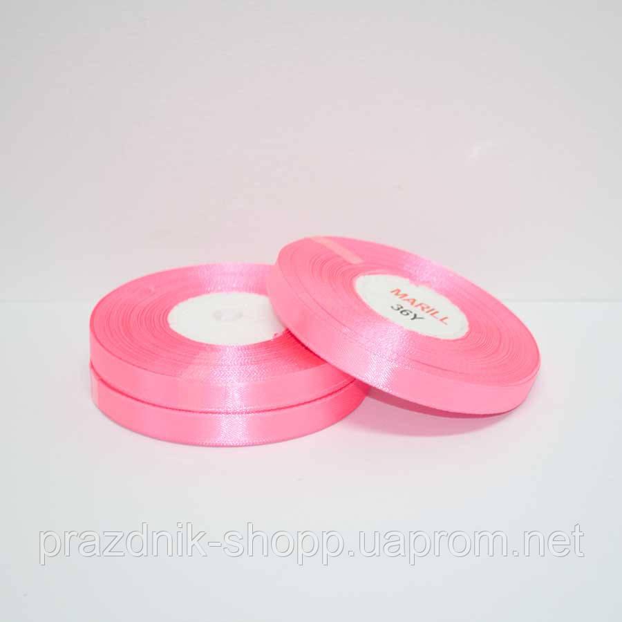 Лента атласная 6мм.,розовая