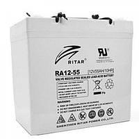 Аккумулятор для ИБП Ritar AGM RA12-55, 12V-55Ah (RA12-55)