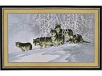 Набор для вышивки картины Волчья Стая 75х45см