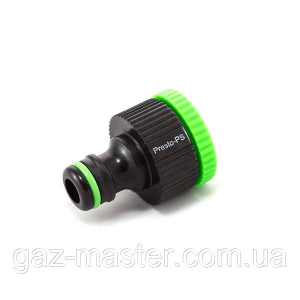 Фитинг Presto-PS адаптер под коннектор универсальный с внутренней резьбой 1/2 - 3/4 дюйма (4026)