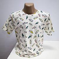 Мужская футболка большого размера хлопок Турция L5429G