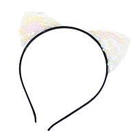 "Обруч для волос с мягкими ушками ""Gabriel White"""