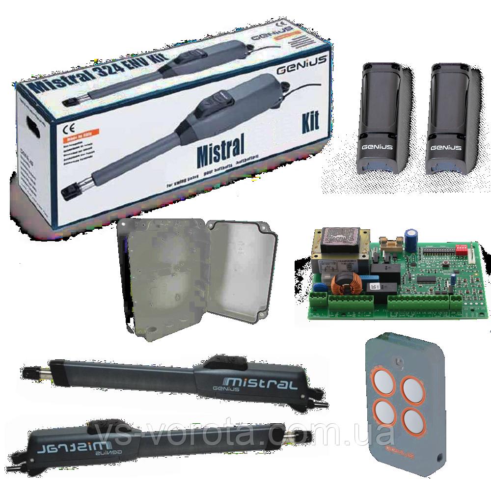 FAAC GENIUS MISTRAL 300 LS створка до 3 м электромеханическими концевыми выключателями