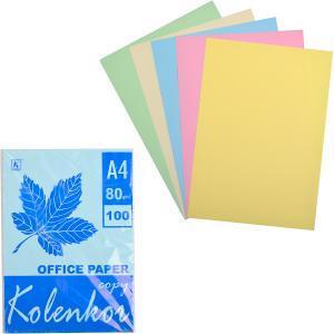 Бумага для ксерокса А4 5 цветов, пастель 100 листов 80 г/м²                      П5/100