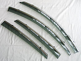 Nissan Teana J32 ветровики дефлекторы окон ASP с молдингом нержавеющей стали / sunvisors