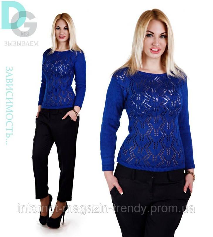 Легкий кружевной свитер(2 цвета)