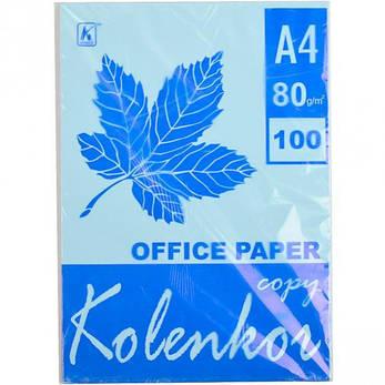 Бумага для ксерокса А4 5 цветов, пастель 100 листов 80 г/м²                      П5/100 , фото 2