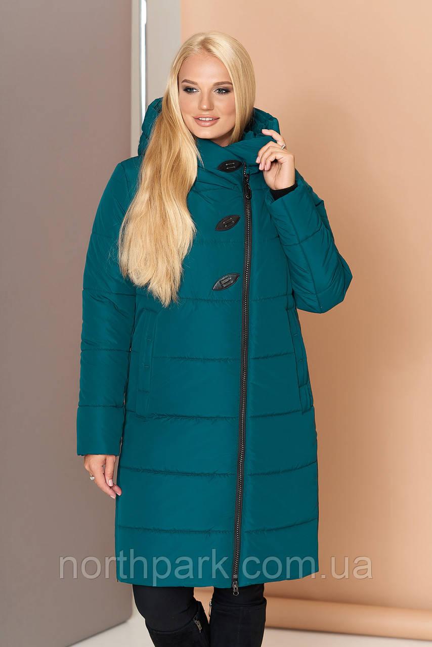 Довга зимова куртка VS 191, смарагд