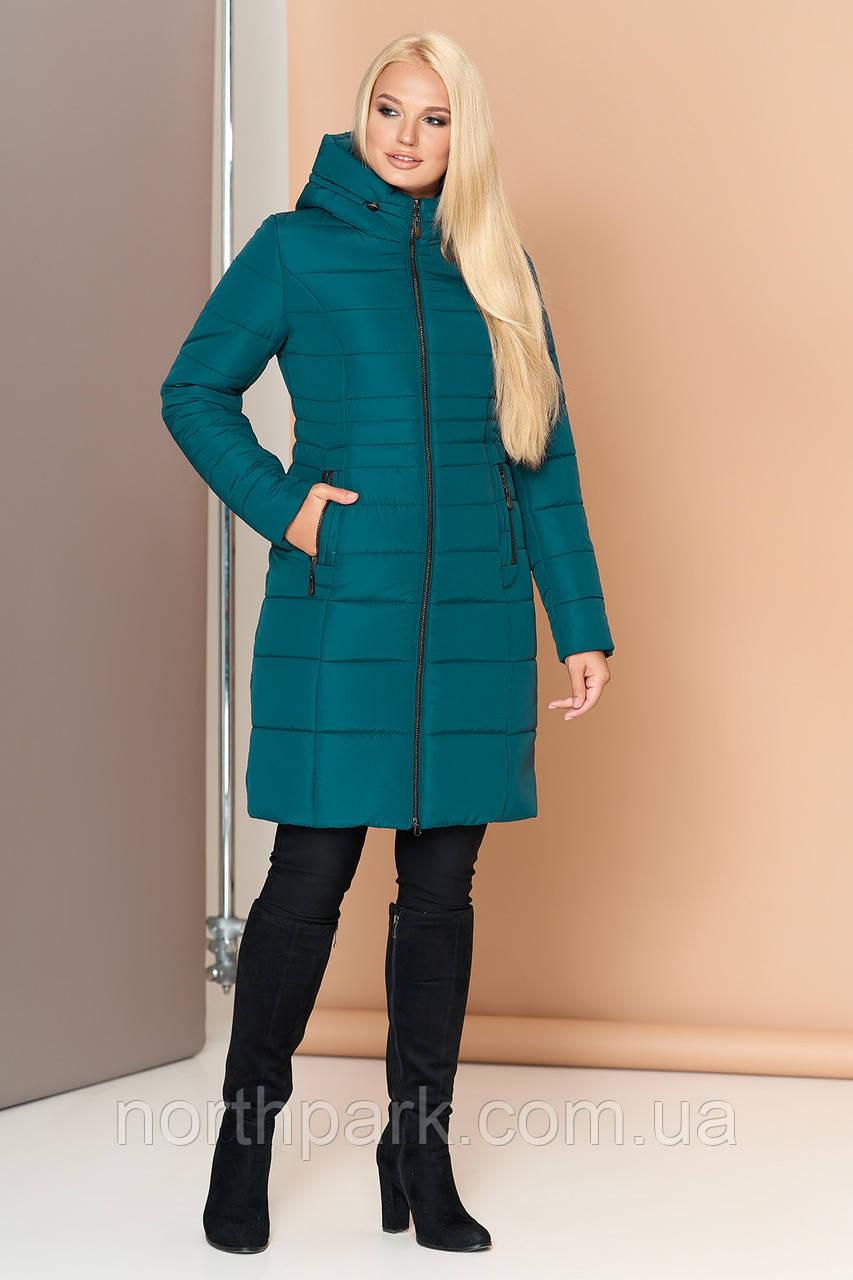 Довга зимова куртка VS 190, смарагд