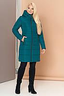 Довга зимова куртка VS 190, смарагд, фото 1