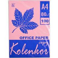 Бумага для ксерокса, А4 100 листов 80 г/м² пастель PINK