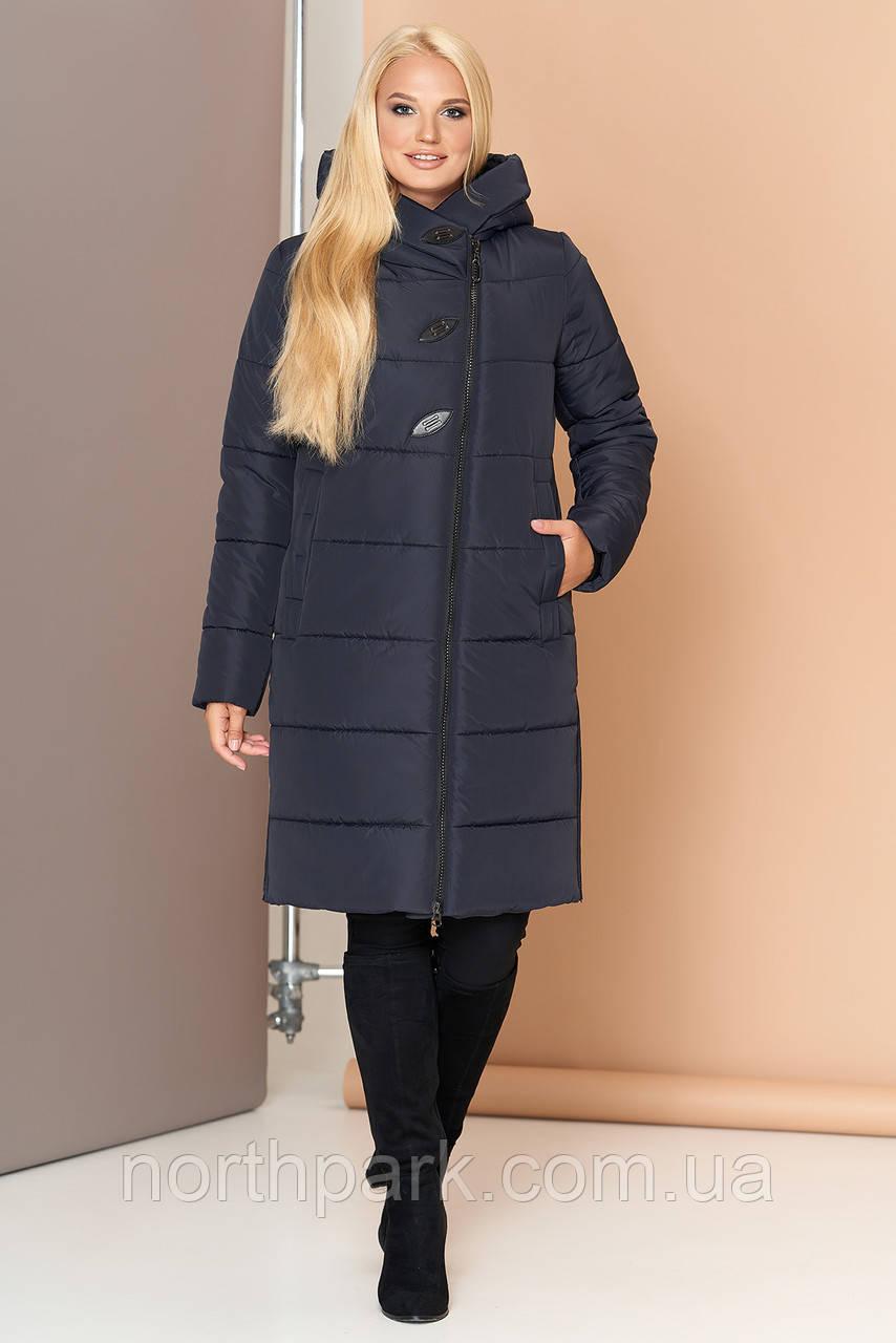Довга зимова куртка VS 191, темно-синя