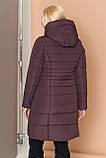 Довга зимова куртка VS 190, шоколад, розмір 46, фото 2