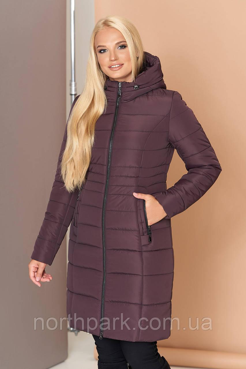 Довга зимова куртка VS 190, шоколад