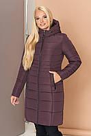 Довга зимова куртка VS 190, шоколад , фото 1